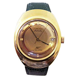 Longines Yellow Gold Plating Ultra-chrone Vintage 36mm Mens Watch 1970s