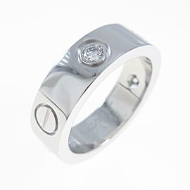 Cartier 18K White Gold Love Half Diamond ring TkM-118