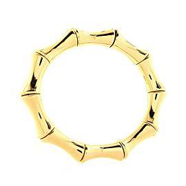 Gucci Bamboo Spring Bangle Bracelet 18K Yellow Gold Large