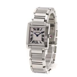 Cartier Tank Francaise M5102803 Stainless Steel Quartz 18mm Womens Watch