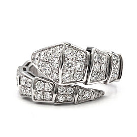 Bulgari Serpenti One-Coil 18K White Gold with 3.00ctw Diamonds Ring