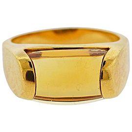 Bulgari Gold Citrine Ring