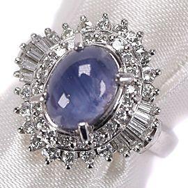 diamond/Platinum/Star sapphire Ring