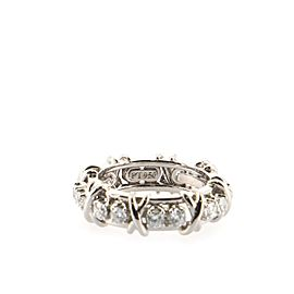 Tiffany & Co. Schlumberger Sixteen Stone Ring Platinum with Diamonds