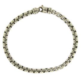 David Yurman 925 Sterling Silver Box Chain Bracelet