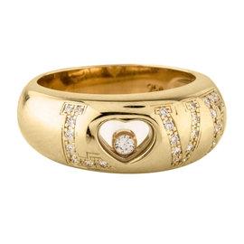 Chopard 18K Yellow Gold Diamond Love Ring Size 6