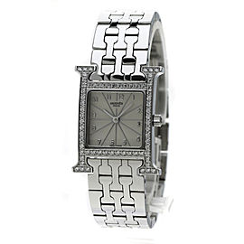 Hermes H HH1.230 Stainless Steel with Diamond Quartz 21mm Womens Watch