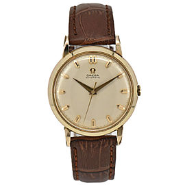 OMEGA Gold Plated/Leather Cal.501 Automatic Men's Watch
