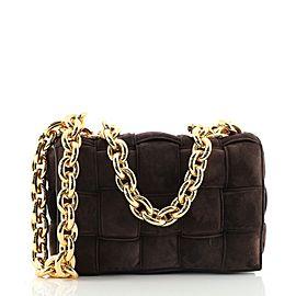 Bottega Veneta Cassette Chain Crossbody Bag Padded Maxi Intrecciato Suede