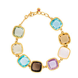 Roberto Coin Ipanema 18K Yellow Gold with 4.15ct Semi Precious Stones Bracelet