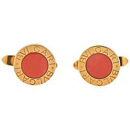 Bulgari Coral Gold Cufflinks