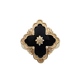 "Buccellati ""Opera"" Collection Rose Gold with Black Onyx Ring Size 6"