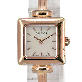 GUCCI 1900L White shell Dial PinK Gold Plated Quartz Ladies Watch