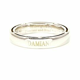 Damiani Diamond 18K White Gold Brad Pitt D-Side Ring CHAT-573