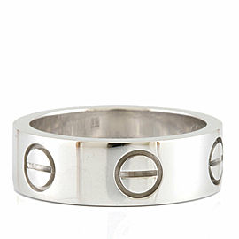 CARTIER 18K white gold love Ring CHAT-922