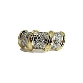 Roberto Coin Nabucco Ring 18K Yellow & White Gold 2.00tcw Diamond Size 6.5