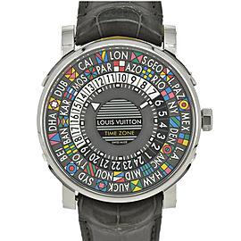 LOUIS VUITTON Escal time zone Q5D20 gray Dial Automatic Unisex Watch #HK-320