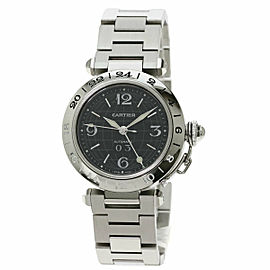 CARTIER W31049M7 Pasha Stainless Steel/Stainless Steel C Meridian GMT Watch TNN-2048