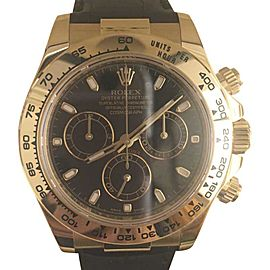 Rolex Daytona Cosmograph 18K Yellow Gold & Leather 40mm Watch