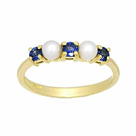 TIFFANY & Co. 18K yellow gold Pearl Sapphire Ring