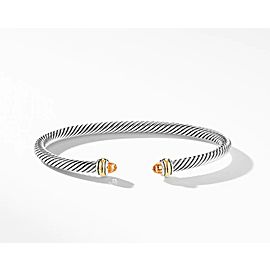 David Yurman Cable Classic Collection Bracelet with Citrine and 18k Yellow Gold