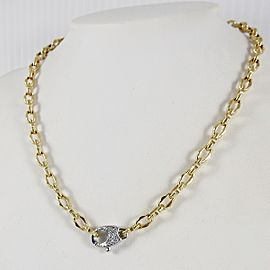 "Roberto Coin 18K Yellow Gold 17"" .19tcw Mini Appassionata Chain Diamond Necklace"