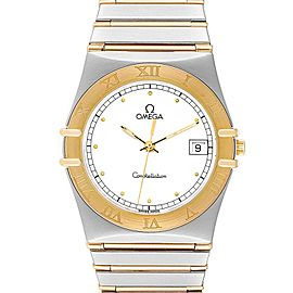 Omega Constellation Steel 18K Yellow Gold Mens Watch 396.1076