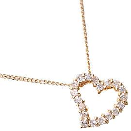 heart Necklace K18 yellow gold/diamond Women