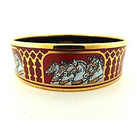 Hermes Gold Tone Hardware Cloisonne Bracelet