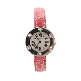 Cartier Love 6 Diamond Quartz Watch White Gold and Alligator 23