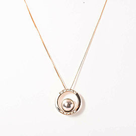 18K Pink Gold Black Pearl Necklace