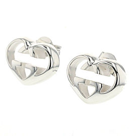 GUCCI 925 silver Interlocking G heart Pierce