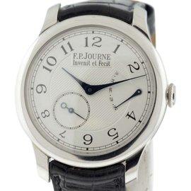 F.P. Journe CS.PT.40 Platinum & Leather Silver Dial Manual 40mm Men's Watch