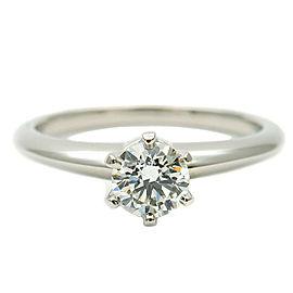 Tiffany & Co. 0.34ct Platinum Diamond Solitaire Ring