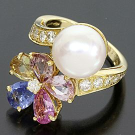 BVLGARI Pearl / Diamonds / Multi Stone Ring