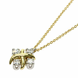 TIFFANY & Co. 18K Yellow Gold Platinum Jean Schlumbersee Diamond Necklace