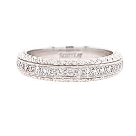 Scott Kay EB1035RDV4PP Platinum Diamond Ring