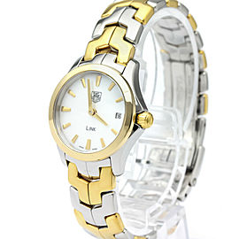 TAG HEUER Mini Link MOP Dial Gold Plated Steel Watch WJF1450