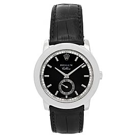 Rolex Cellini Cellinium 5241/6 Platinum with Black Dial 38mm Mens Watch