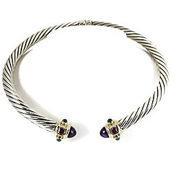 David Yurman 14K Yellow Gold, Sterling Silver Amethyst, Rhodolite Garnet, Onyx Necklace