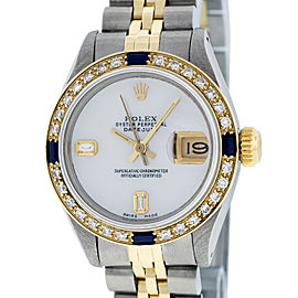 Rolex Datejust Stainless Steel and 18K Yellow Gold Mother of Pearl Diamond Dial 26mm Women's Watch