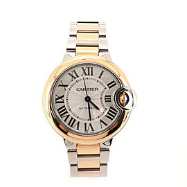Cartier Ballon Bleu de Cartier Automatic Watch Stainless Steel and Rose Gold 33