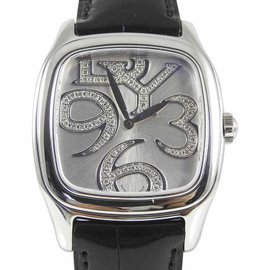 David Yurman A13577 Stainless Steel with Diamond Magnified Numbers 32mm Womens Watch