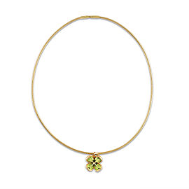 Chanel 18K Yellow Gold Peridot Necklace