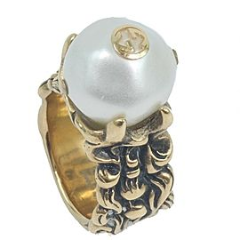 GUCCI Gold Plated/Fake pearl Ring