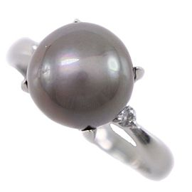 Platinum/Black pearl Ring