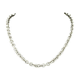 Judith Ripka 925 Sterling Silver Textured Link Toggle Necklace