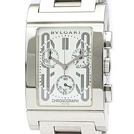 BVLGARI RTC49S Rettangolo Stainless Steel Quartz Watch