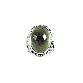 Konstantino Sterling Silver Green Amethyst Ring Size 7.25