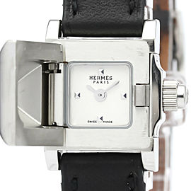 HERMES ME2.110 Medor Stainless steel Leather Mini Quartz Watch